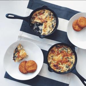 Mini Skillet Crustless Quiches - Victoria Cast Iron Skillet Recipe