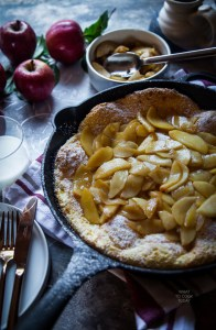Pannekoeken Dutch Baby Pancakes in Cast Iron Skillet