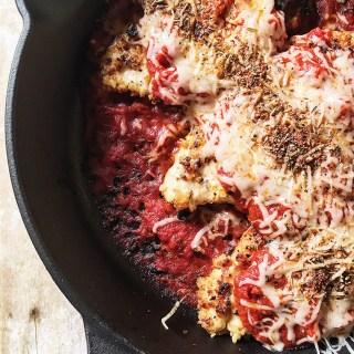 Cast Iron Skillet Gluten Free Chicken Parmesean by @pleaseandcarrotsticks