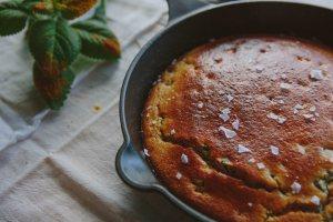 Buttermilk Corn Bread with Poblano Peppers
