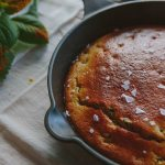 Cast Iron Buttermilk Corn Bread with Poblano Peppers