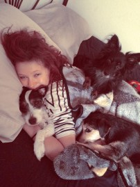 Morning cuddles with my babies!