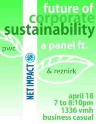 Net Impact's corporate sustainability panel