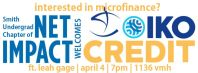 Facebook cover photo for Net Impact Oikocredit event