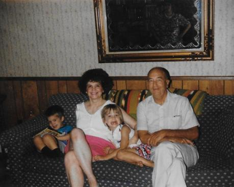 Mom-Mom and Pop-Pop with me and my brother Rob, 1992.