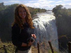 Isabel at Victoria Falls