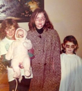 My first halloween with my sisters!