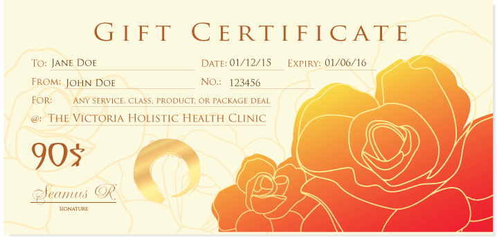 2015 Gift Certificate example