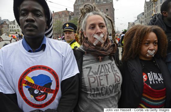 Netherlands - Sinterklaas protest and celebration