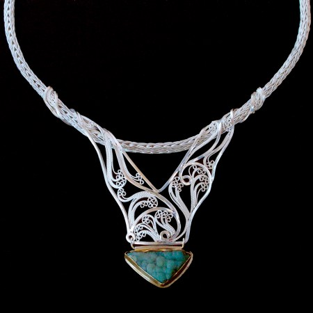 Entwine, Russian filigree necklace