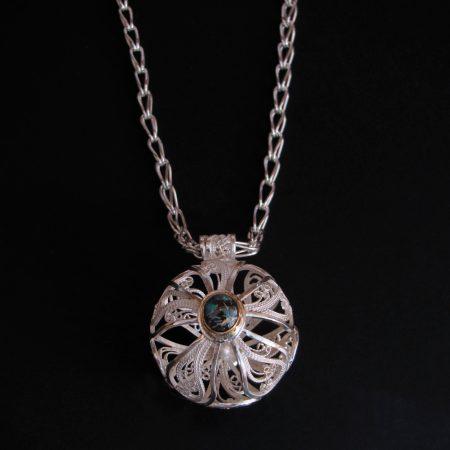Orb V, Russian filigree pendant