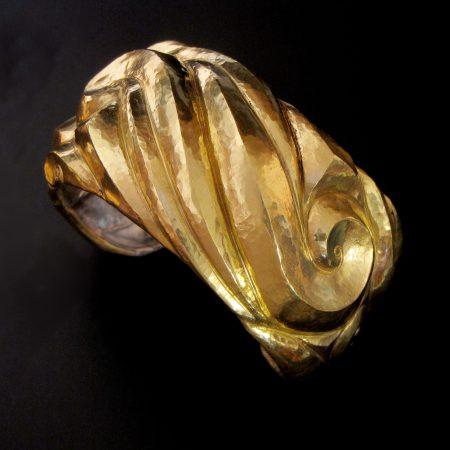 Spirale Sancta, Eastern repousse cuff bracelet