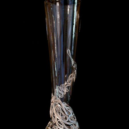Curves in the Right Places, Russian filigree and blown glass champagne flute
