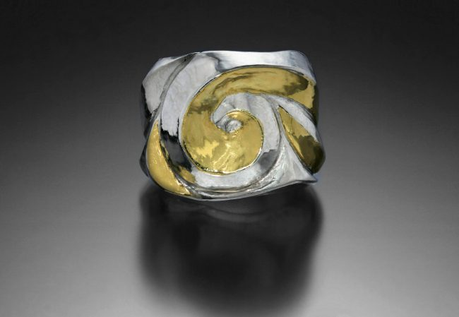 Enveloped, Eastern repousse ring by Victoria Lansford; photo by Pat Vasquez-Cunningham