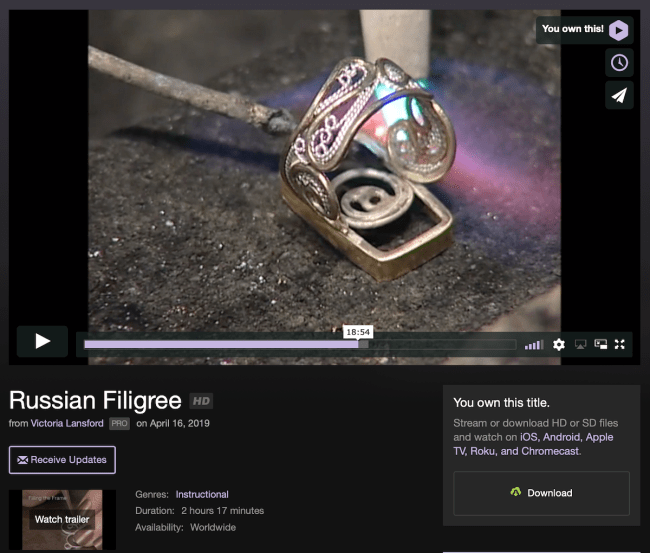 Russian Filigree for download/streaming by Victoria Lansford
