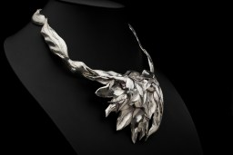 Eternal Spring, Eastern repousse necklace; photo by Pat Vasquez-Cunningham