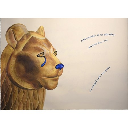 Sekhmet in Eternity archival print from Giving Voice by Victoria Lansford