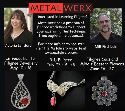 Metalwerx Online Filigree Program with Victoria Lansford and Milt Fischbein 2021