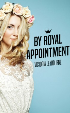 """the cover of """"by royal appointment"""": a smiling woman wears a flower crown"""