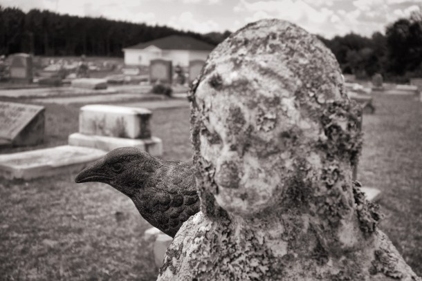 Nevermore with the Blessed Virgin Mary in Zion Baptist Cemetery, Chauncey, Georgia