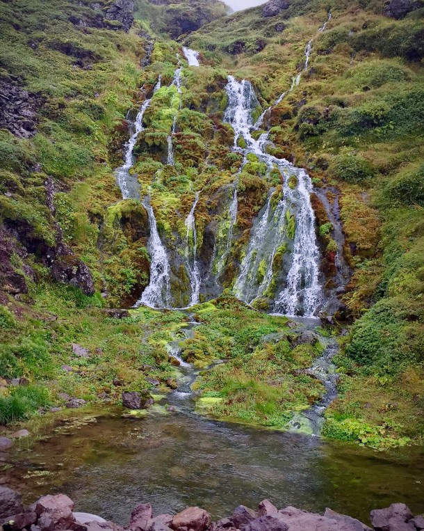 One of the countless waterfalls to be seen in Iceland. This is along a drive to Látrabjarg.