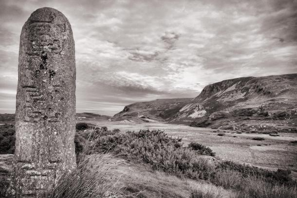 Standing Stone in Glencolmcille, County Donegal