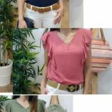 blusa volantes lisa