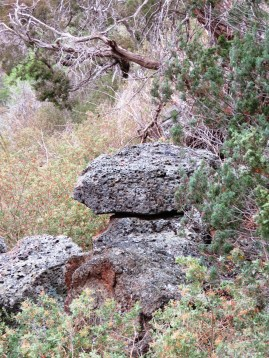 Rocky escarpment at Parwan