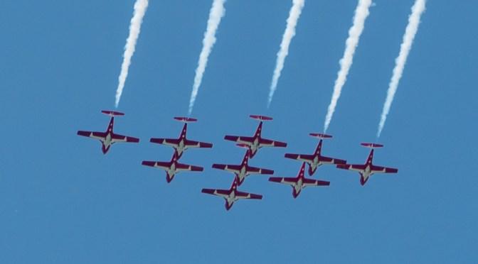 Snowbirds flyover