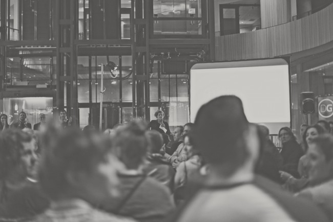 An large and appreciative audience listen to stories of urbanism from across the world. photo: Kristy Westendorp Photography