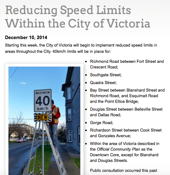 Reducing speed limits in Victoria.
