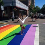 High-fiving our freshly painted cross-walk DT Victoria