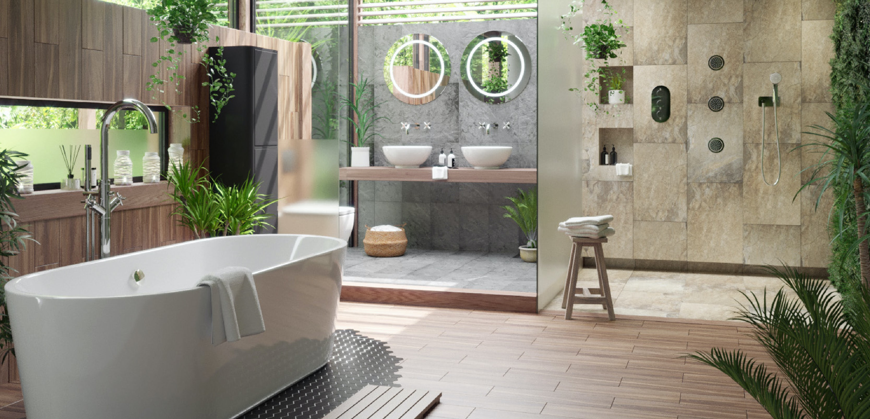 Get The Look: Tropical Bathrooms