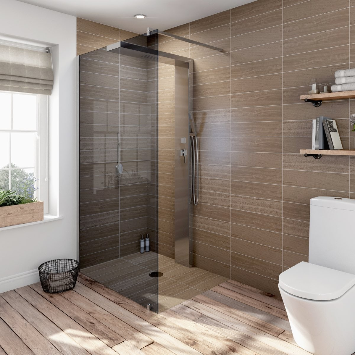 Complete Walk In Shower Enclosure System 1200 X 900