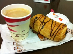 indescribable pleasure comes from a coffee & fresh pastry