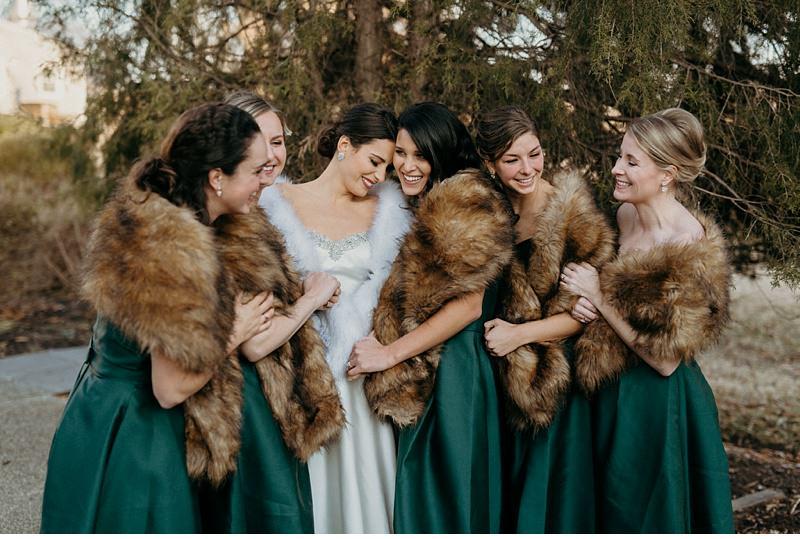 Cozy Winter Wedding with Emerald Greens & Pinecones    Eastern Shore, Maryland    Victoria Selman Photographer