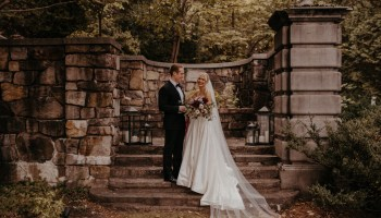 Jewel-toned fall wedding at Strong Mansion in Frederick, Maryland by relaxed organic wedding photographer
