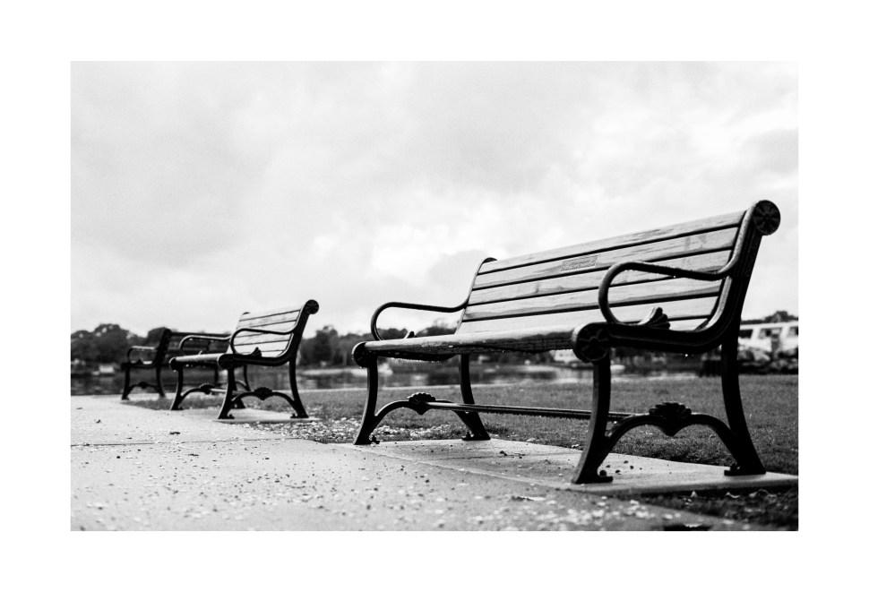 Benches at Warren Town Beach