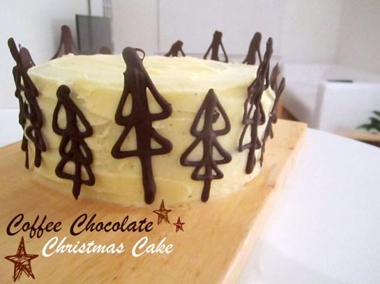 Chocolate Coffee Christmas Cake