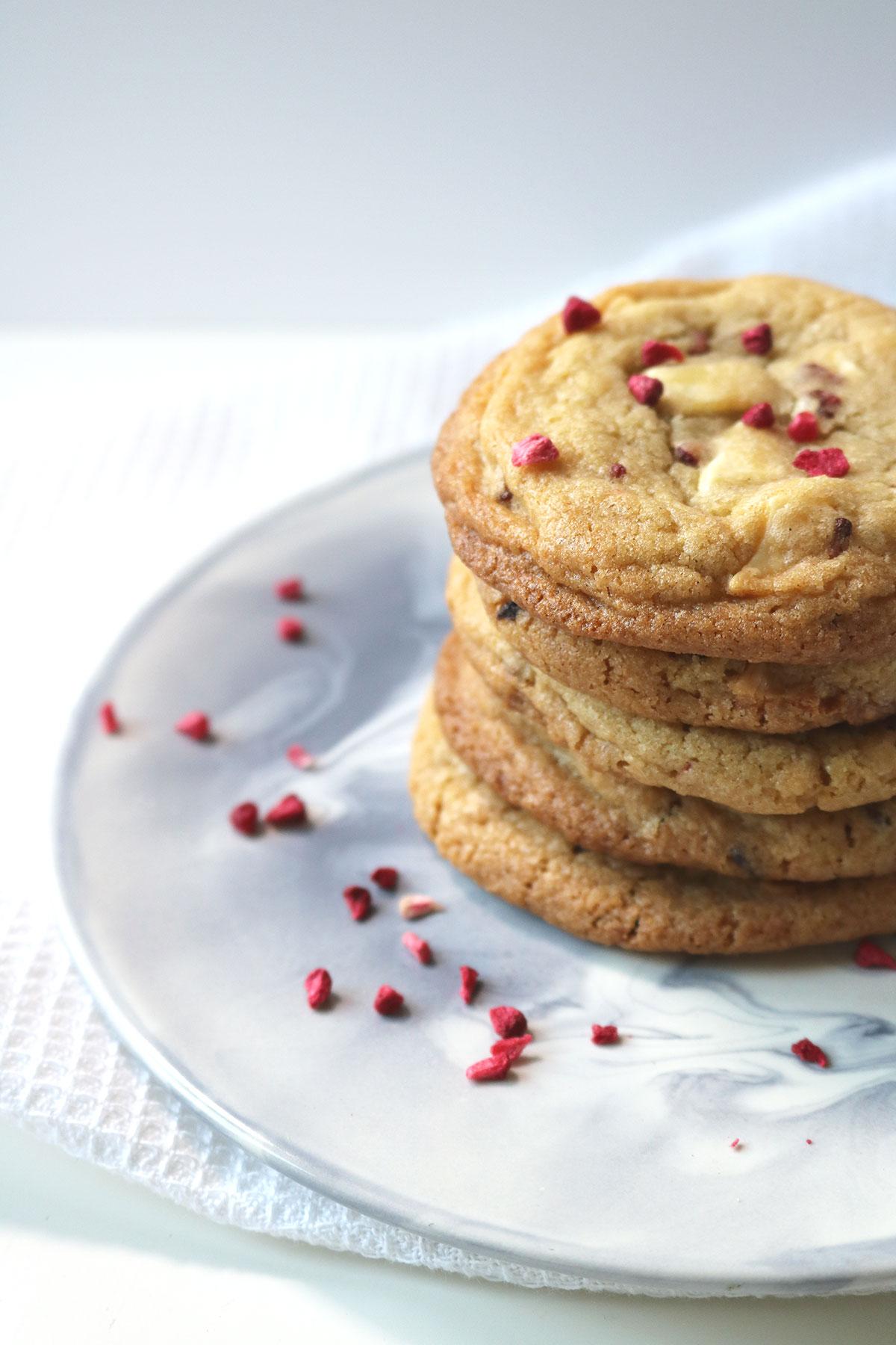 Raspberry and White Chocolate Cookies