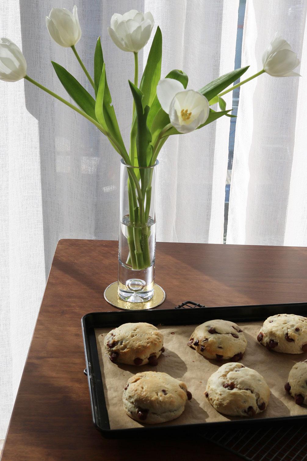 Milk Chocolate Chip Vanilla Scones