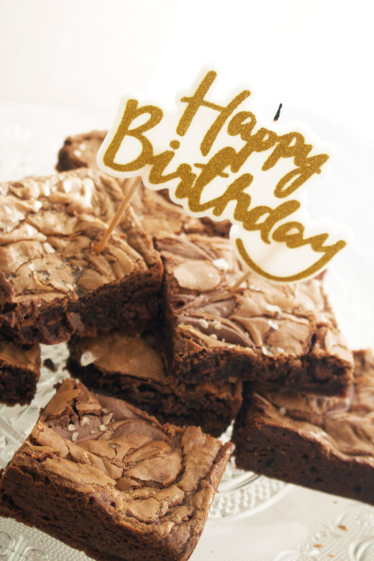 Cool Smoked Salt And Nutella Birthday Brownies Funny Birthday Cards Online Fluifree Goldxyz
