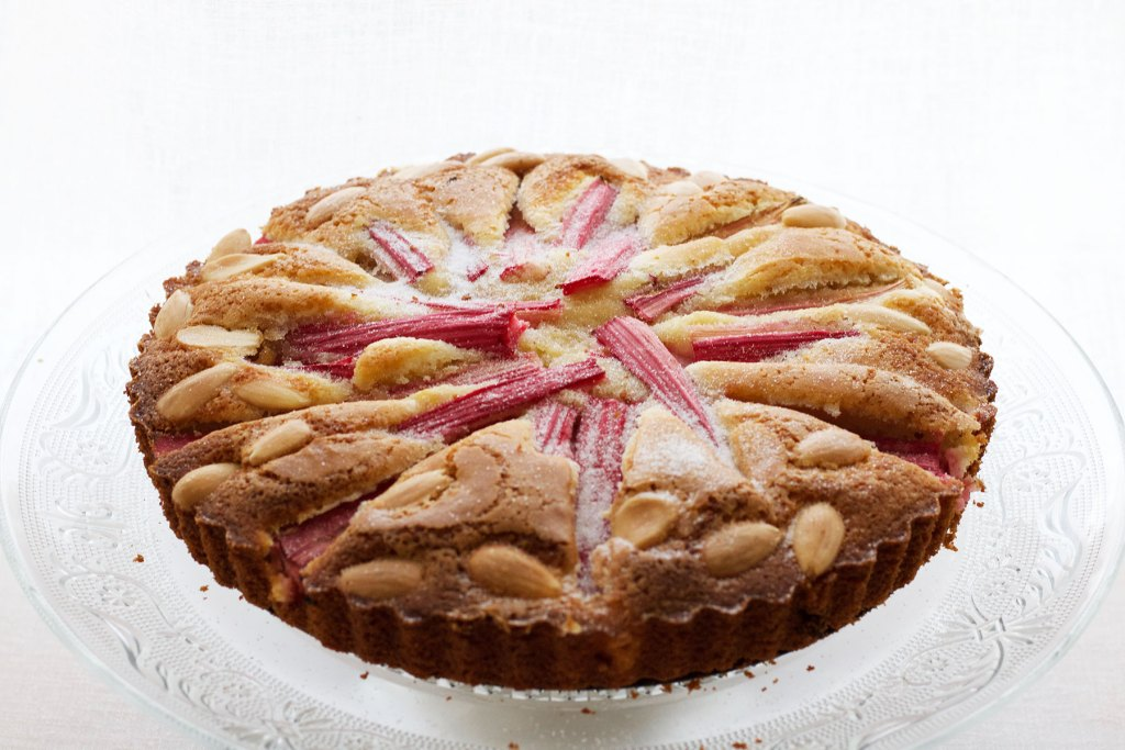Gluten Free Rhubarb and Almond Cake
