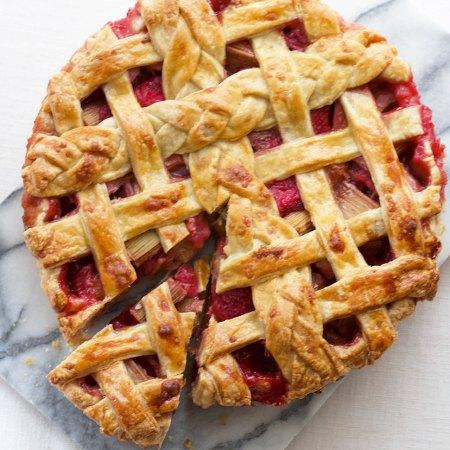 Strawberry Rhubarb Lattice Pie // Victoria Sponge Pease Pudding