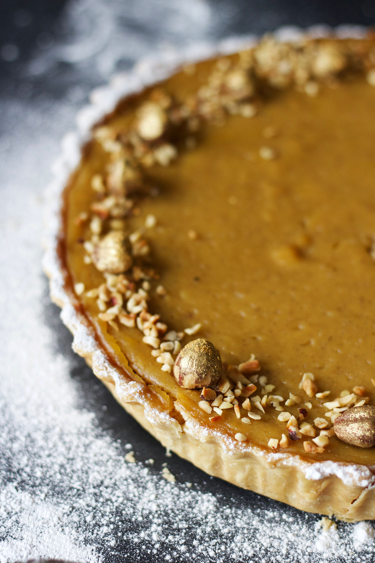 Hazelnut Pumpkin Pie