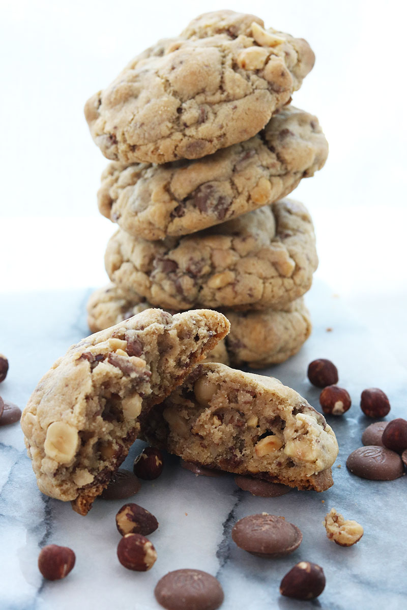NYC Style Milk Chocolate and Hazelnut Cookies