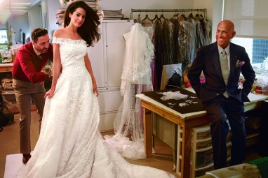 Amal Alamuddin wedding dress, Sept 2014