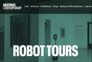 screenshot of robot tours at Hastings Contemporary