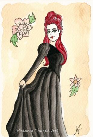 Gothic Rococo A6 Postcard - £10