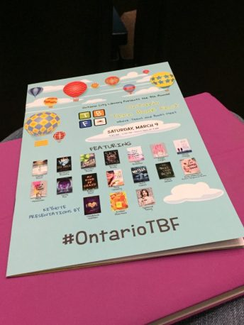 Image of the program for the Ontario Teen Book Fest.